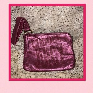 Juicy Couture Pink Metallic Zippered Accessory Bag
